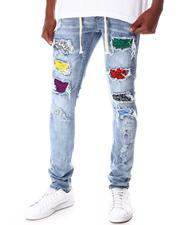 Jeans - Ripped Jean w Multi Color Moto Backing-2645784