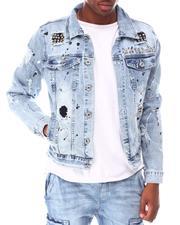 Outerwear - Denim Jacket w Punk Stud Detail-2645835