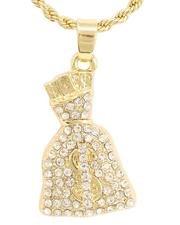 Buyers Picks - Rope Chain Necklace W/ Money Bag Pendant -2646023