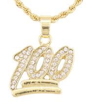 Jewelry & Watches - Rope Chain Necklace W/ 100 Pendant -2646026