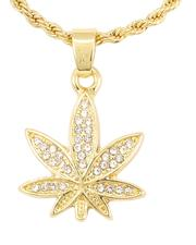 Buyers Picks - Rope Chain Necklace W/ Leaf Pendant -2646030