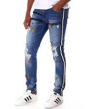 Jeans - Rip and Repair Jeans Print and Side Tape-2645519