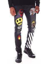 Jeans - Graffiti Jean w Drawcord Belt-2645681