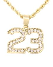 Buyers Picks - Rope Chain Necklace W/ 23 Pendant-2646024