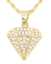 Buyers Picks - Rope Chain Necklace W/ Diamond Pendant -2646028