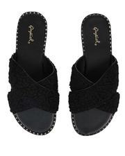 Fashion Lab - Teddy Faux Fur Sandals-2642993
