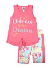 Sets - 2 Pc Embrace Your Dreams Tie Front Tank Top & Bike Shorts Set (7-16)-2645560