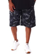 Akademiks - Cargo Shorts with Ribbed Waistband (B&T)-2646494