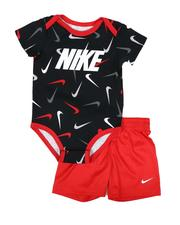 Sets - 2 Pc Swooshfetti Bodysuit & Shorts Set (Infant)-2645277