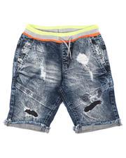 Shorts - Pull On Denim Shorts (8-18)-2644417