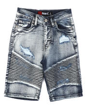 Shorts - Distressed Moto Denim Shorts (8-18)-2645173