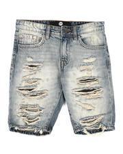 Shorts - Crinkle Denim Shorts (8-18)-2645213
