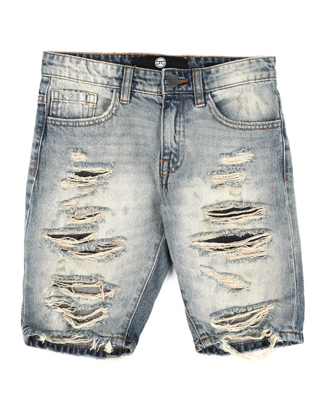 Jordan Craig - Crinkle Denim Shorts (8-18)