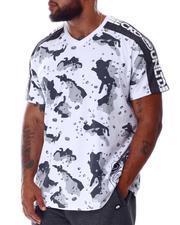Ecko - Whack A Sleeve Camo V-Neck T-Shirt (B&T)-2645963