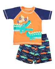 Arcade Styles - 2 Pc Oh Snap Rash Guard & Swim Trunks Set (Infant)-2643342