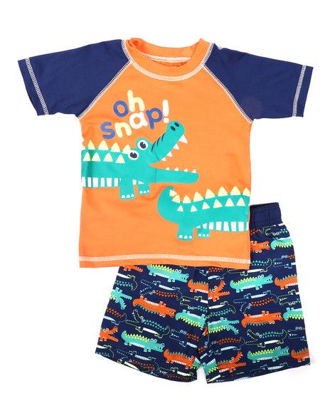 Arcade Styles - 2 Pc Oh Snap Rash Guard & Swim Trunks Set (Infant)