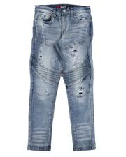 Sizes 8-20 - Big Kids - Rip & Repair Moto Jeans (8-18)-2643365