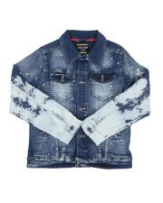 Sizes 8-20 - Big Kids - Paint Splatter Denim Jacket (8-18)-2644723