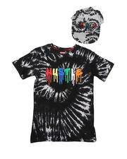 Sizes 8-20 - Big Kids - 2 Pc Hustle Drip Tie-Dye T-Shirt & Snapback Hat Set (8-18)-2645266