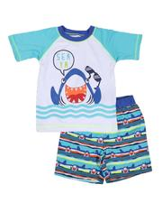 Arcade Styles - 2 Pc Sea Ya Rash Guard & Swim Trunks Set (Infant)-2643316