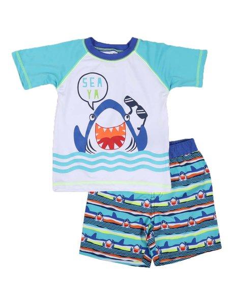 Arcade Styles - 2 Pc Sea Ya Rash Guard & Swim Trunks Set (Infant)