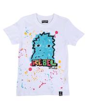 Sizes 8-20 - Big Kids - Rebel Graphic Paint Splatter Tee (8-20)-2644577