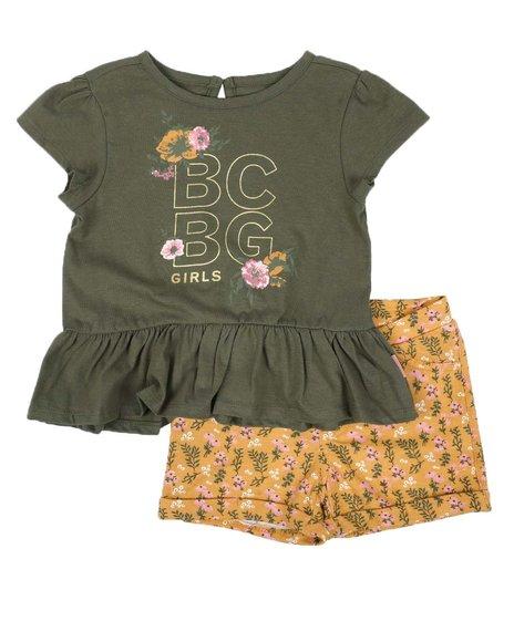 BCBGirls - 2 Pc Peplum Top & Knit Shorts Set (2T-4T)