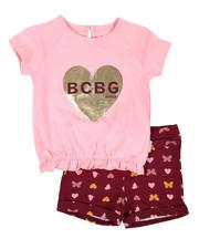 Girls - 2 Pc Top & Knit Shorts Set (2T-4T)-2646091