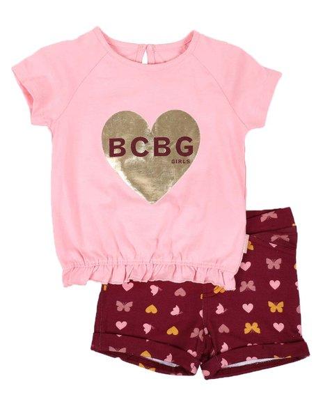 BCBGirls - 2 Pc Top & Knit Shorts Set (4-6X)
