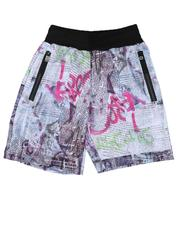 Sizes 8-20 - Big Kids - Printed Scuba Shorts (8-18)-2646241