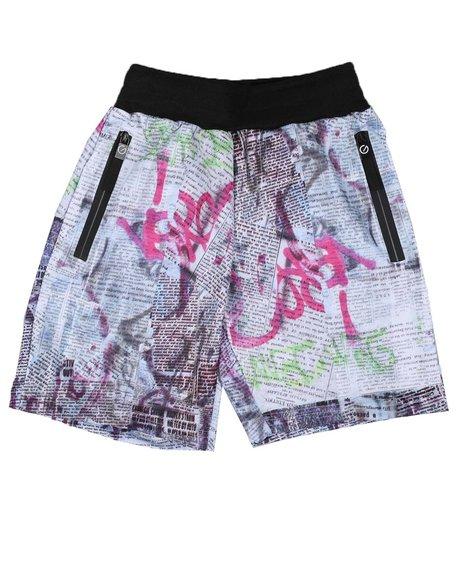 NOTHIN' BUT NET - Printed Scuba Shorts (8-18)