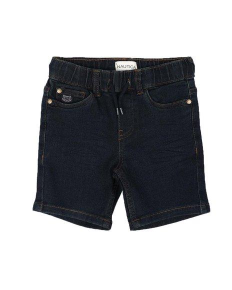 Nautica - Pull On Denim Shorts (2T-4T))