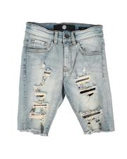 Sizes 8-20 - Big Kids - Distressed Denim Shorts (8-18)-2647864