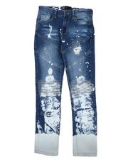 Arcade Styles - Bleached Rip & Repair Jeans (8-18)-2646792