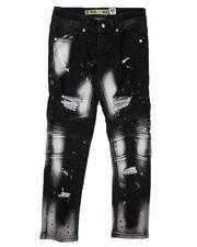 Bottoms - Bleach Splatter Distressed Stretch Jeans (8-18)-2646805