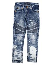 Bottoms - Bleached Moto Jeans (8-18)-2646811