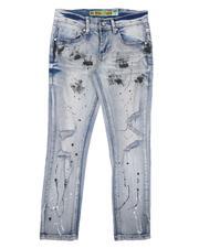 Bottoms - Destructed Paint Splatter Jeans (8-18)-2646823