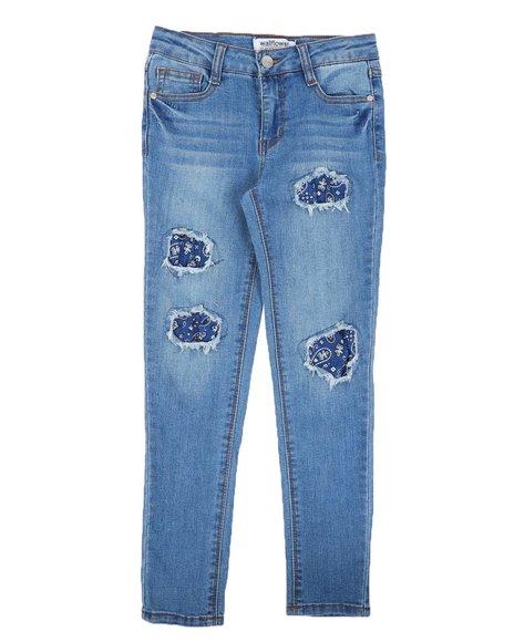 Wallflower Girl - Bandana Backed Rips Jeans (7-16)
