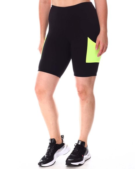Fashion Lab - 2 Pack Bike Short With Cell Phone Pocket