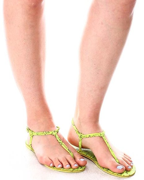 Fashion Lab - Snake Print Sandals