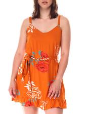 Dresses - Tie Back W/Cutout Back Hem Dress-2647452