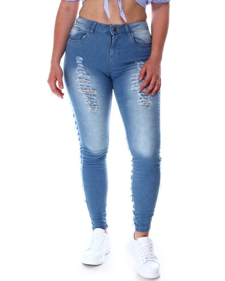 Fashion Lab - 5 Pocket Ripped Jeans