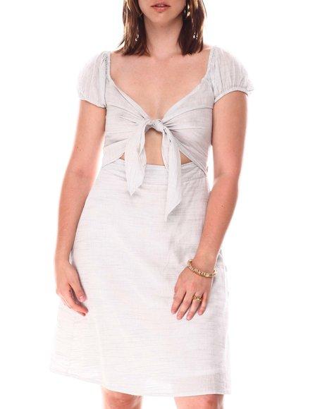 Fashion Lab - Cutout Front Puff sleeve Dress