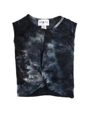 La Galleria - Twist Front Tie Dye Top (7-16)-2647909