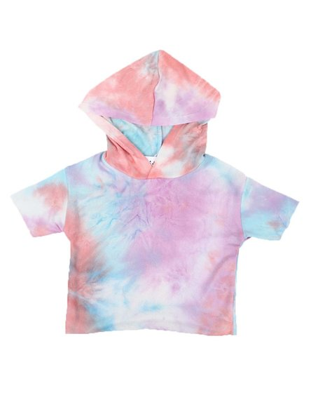 La Galleria - Tie Dye Hooded Crop Top (7-16)