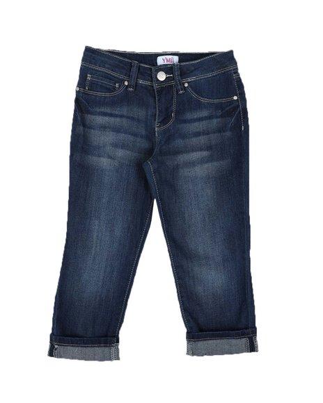 YMI Jeans - Roll Cuff Denim Capri (7-16)