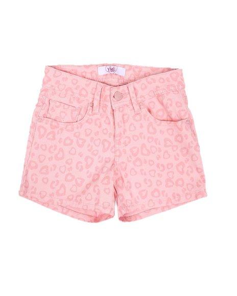 YMI Jeans - Animal Print Twill Shorts (7-14)