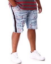 Jordan Craig - Rhinestone Side Trim Distressed Denim Shorts (B&T)-2648478