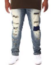 SMOKE RISE - Cut & Sew Denim Jeans (B&T)-2646347