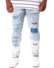 SMOKE RISE - Cut & Sew Denim Jeans (B&T)-2646354